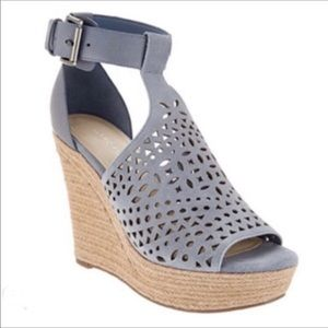 Marc Fisher Hasina Perforated Suede Wedges